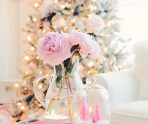 christmas, flowers, and pink image
