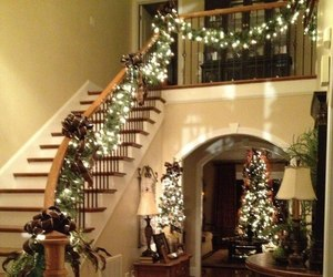 lights, staircase, and tree image