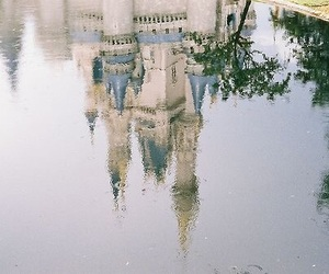 disney, castle, and water image