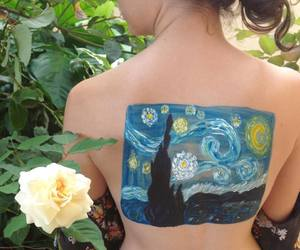 nature, painting, and skin image