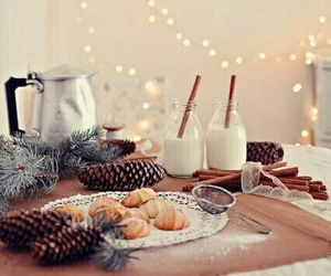 christmas, winter, and milk image