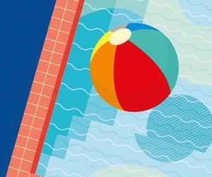 beach ball, california, and graphic design image