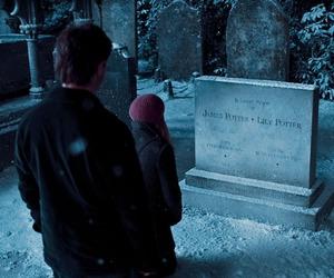 harry potter, james potter, and hermione granger image