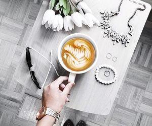 coffee, coffee art, and fashion image