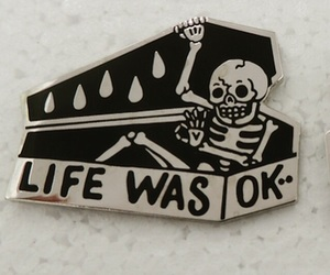 life, skeleton, and coffin image