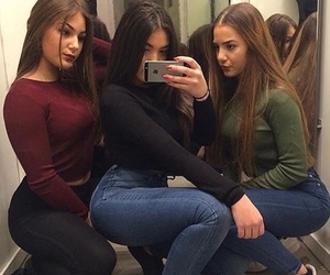 girl, friends, and squad image