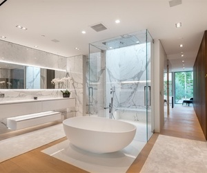 art, bathroom, and bedroom image