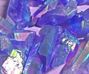 holographic, crystal, and iridescent image