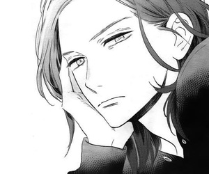 manga, monochrome, and manga boy image