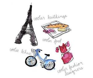 paris, bike, and food image