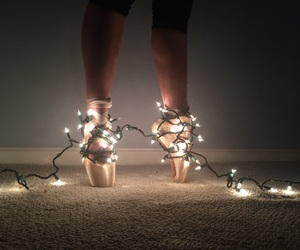 ballet shoes, dance, and lights image