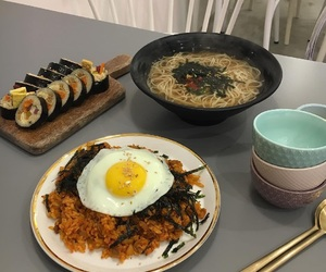 korean food, food, and asian food image