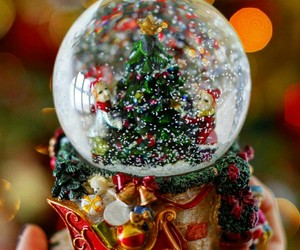 christmas, light, and snow globe image