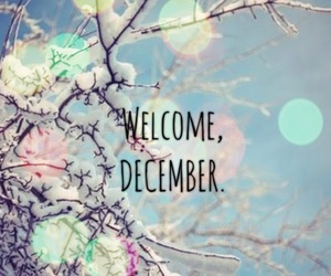 december, snow, and welcome image