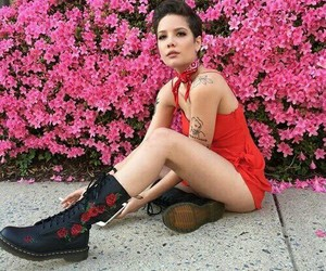 halsey, flowers, and pink image