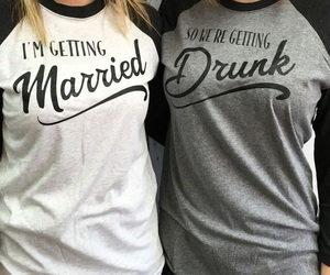 bride, drinking, and drunk image