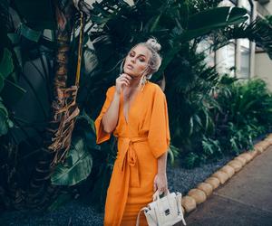 fashion, blonde, and dress image