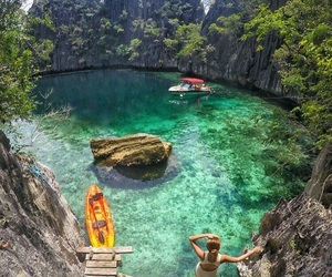 Philippines and twin lagoon image