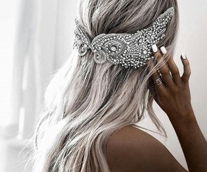 accessories, girl, and grey image