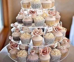 cupcake, wedding, and cake image