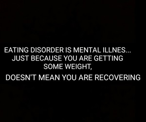 eating disorder, hate, and quote image
