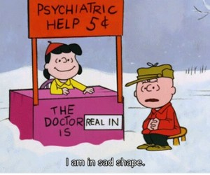 charlie brown, peanuts, and psychiatric image