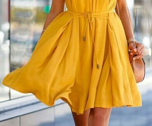 amarelo, fashion, and look image