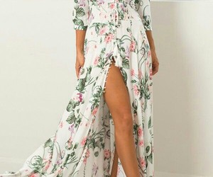 floral, look, and moda image