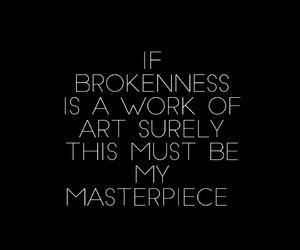 black and white, broken, and Lyrics image