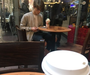 boy, prague, and starbucks image