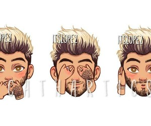 cartoon, funny, and one direction image