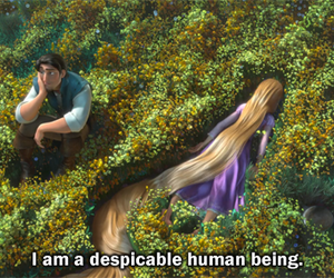 cartoon, tangled, and confession image