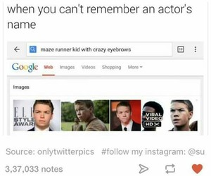 funny, maze runner, and lol image