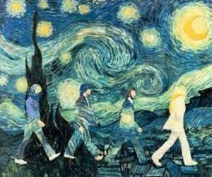 the beatles, art, and van gogh image