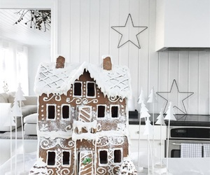 cake, christmas, and cottage image