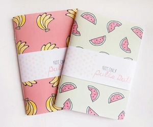 notebook, banana, and FRUiTS image