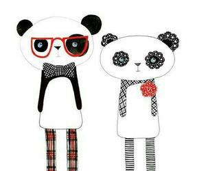 dibujo, panda, and bonito image