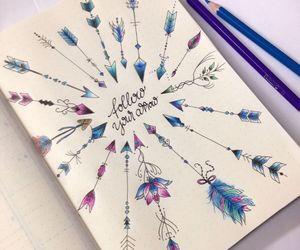 art, arrow, and drawing image