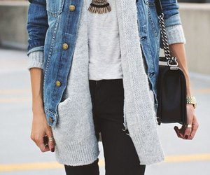 bag, casual, and jeans image