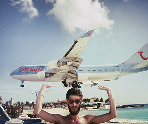 photography, boy, and airplane image
