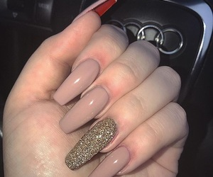 acrylics, manicure, and style image