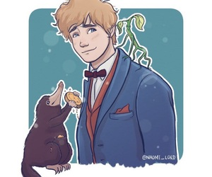 newt scamander, fantastic beasts, and wizard image