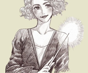 drawing, fantastic beasts, and queenie image
