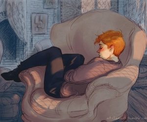 book, harry potter, and ron weasley image