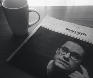 black and white, john mayer, and men's+style image