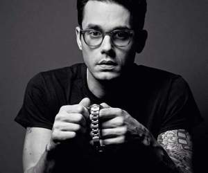 john mayer and black and white image
