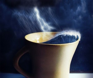 cup, storm, and rain image