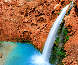 grand canyon and waterfall image