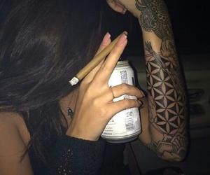 tattoo, smoke, and weed image