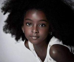 beautiful, curly, and melanin image